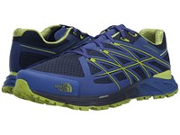 The North Face Ultra Endurance Cosmic Blue Macaw Green Men's Running Shoes