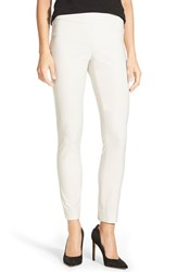 Petite Women's Nic Zoe 'Wonder Stretch' Slim Leg Pants Powder