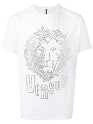 Versus Studded Lion Head T Shirt White