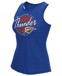 Adidas Women's Oklahoma City Thunder Well Rounded Rhinestone Tank Blue