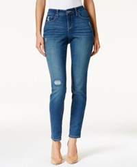 Styleandco. Style And Co. Petite Ripped Bijou Wash Skinny Jeans Only At Macy's