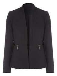 Jane Norman Pu Trim Zip Jacket Black