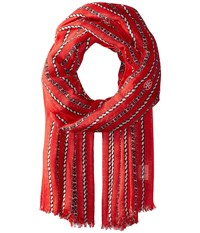 Tory Burch Gemini Link Rope Oblong Nantucket Red Scarves