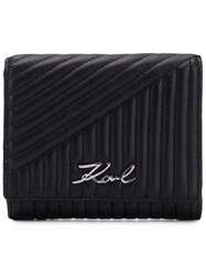 Karl Lagerfeld K Signature Quilted Wallet Black