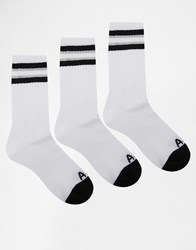 Abercrombie And Fitch Crew Socks 3 Pack White