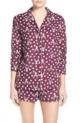 Junior Women's Bp. Undercover Print Short Pajamas