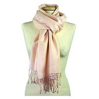 Forzieri Pale Pink Pashmina Scarf Blossom
