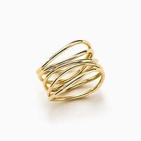 Tiffany And Co. Elsa Peretti Wave Ring In 18K Gold. No Gemstone