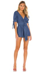 C Meo Collective Kind To You Romper In Blue. Indigo