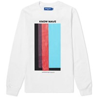 Know Wave Long Sleeve Volume Issue Tee White