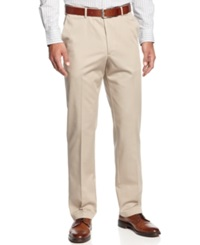 Haggar Pants No Iron Straight Fit Cotton Pants Khaki