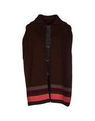 Gallo Knitwear Cardigans Dark Brown