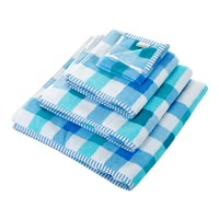 Designers Guild Quadretto Towel Cobalt Bath Towel