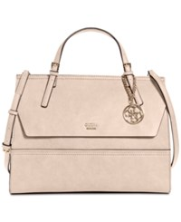 Guess Huntley Top Handle Flap Front Satchel Blush
