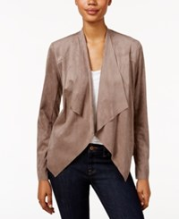 Kut From The Kloth Draped Open Front Blazer Buff