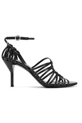 3.1 Phillip Lim Lily Knotted Leather Sandals Black