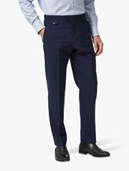 Chester Barrie By Prince Of Wales Check Travel Suit Trousers Navy