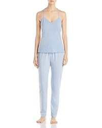 Josie Tank Pj Set Heather Blue