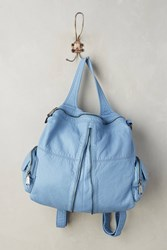 Anthropologie Ziparound Backpack Blue