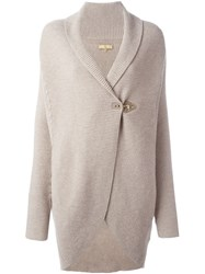 Fay Shawl Collar Cardigan Nude And Neutrals