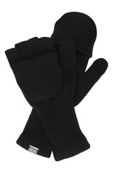 Men's Converse Convertible Knit Gloves Black Converse Black