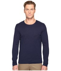 Billy Reid Lined Crew Neck Sweater Midnight