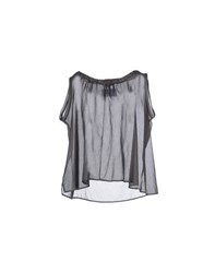 .. Merci Shirts Blouses Women Steel Grey