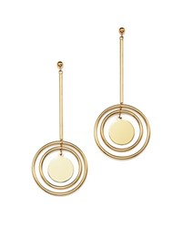 Bloomingdale's 14K Yellow Gold Dangle Disc Drop Earrings
