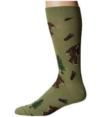 Socksmith Bigfoot Moss Crew Cut Socks Shoes Green