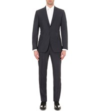 Kilgour Regular Fit Wool And Silk Blend Suit Denim