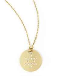 Roberto Coin Star Of David Medallion Necklace Gold