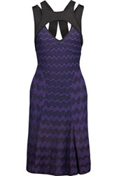M Missoni Cutout Metallic Crochet Knit Dress Multi