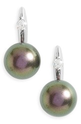 Majorica Women's Simulated Pearl Drop Earrings Grey
