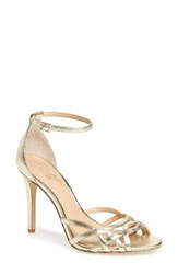 Badgley Mischka Women's Haskell Ii Strappy Sandal Gold Leather