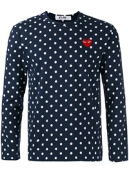 Comme Des Garcons Play Polka Dot T Shirt Blue