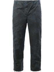 Masnada Cropped Distressed Effect Trousers Blue