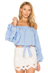 Lovers Friends X Revolve Silas Top Baby Blue