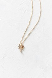 Urban Outfitters Palm Tree Charm Necklace Gold