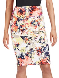 Romeo And Juliet Couture Floral Pencil Skirt Red Multi