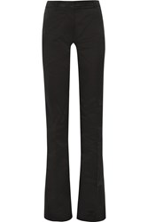 Gareth Pugh High Rise Cotton Blend Faille Flared Pants Black