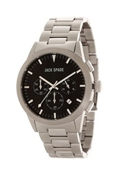 Jack Spade Men's Bailey 3 Eye Chronograph Watch Metallic