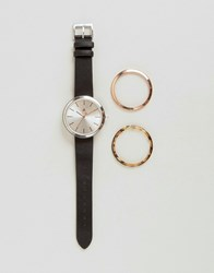 Asos Pack Of 3 Interchangeable Dial Detail Watch Multi
