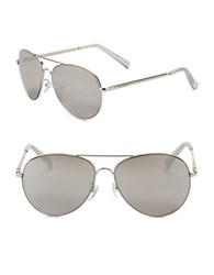 Steve Madden 63Mm Aviator Sunglasses Silver
