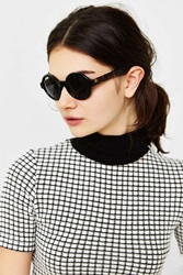 Urban Outfitters Autumn Preppy Round Sunglasses Black Multi