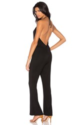 Blq Basiq Halter Low Back Jumpsuit Black