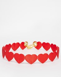Suzywan Deluxe Suzywan St Valentines Red Heart Choker Necklace Red