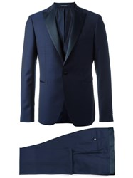 Tagliatore Two Piece And Gilet Dinner Suit Blue