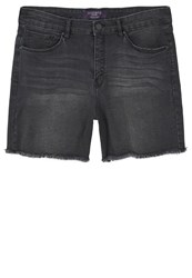 Mango Violeta By Denim Shorts Black Black Denim