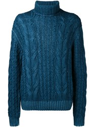 Cruciani Cable Knit Jumper Blue