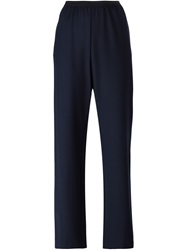 Erika Cavallini Semi Couture Back Pocket Loose Fit Trousers Blue